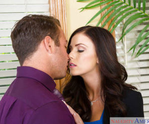 Office slut Whitney Westgate taking care of business with..