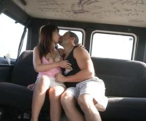 Lecherous asian doxy gets shagged in the car for jizz on..