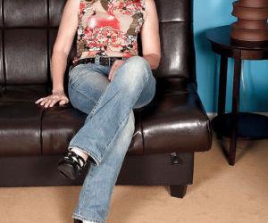 Seductive mature babe on high heels Carolyn Khols taking..