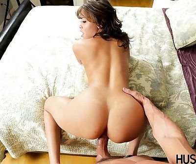 Busty pornstar Cassidy Banks and her bouncing boobs ride fat cock - part 2