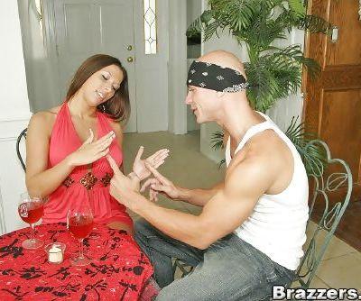 Busty pornstar Rachel Starr scoring a huge cock in her craving pussy